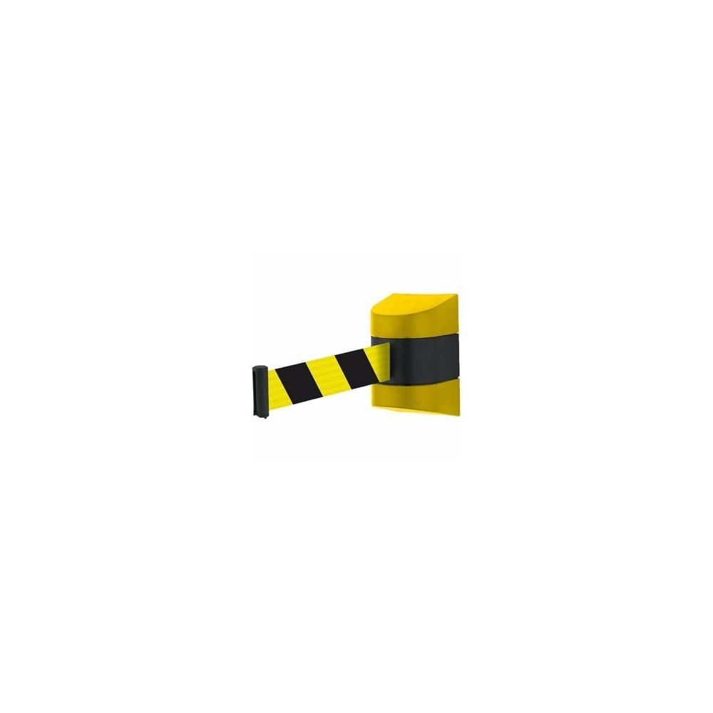 Fali kordon ház szett sárga-fekete műanyag 4,8 m-es sárga szalagkazettával