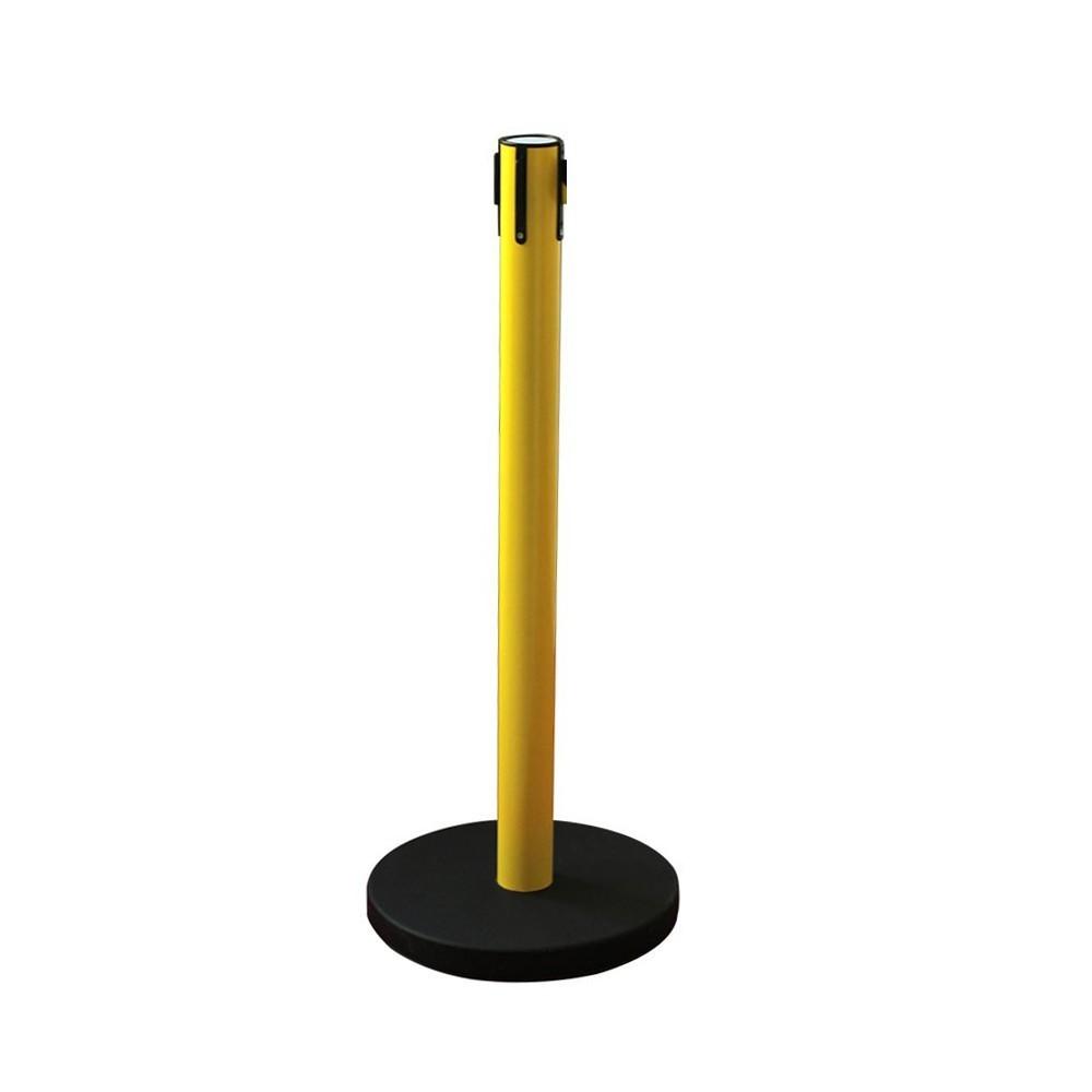 Nagy sárga kordonoszlop fekete talppal