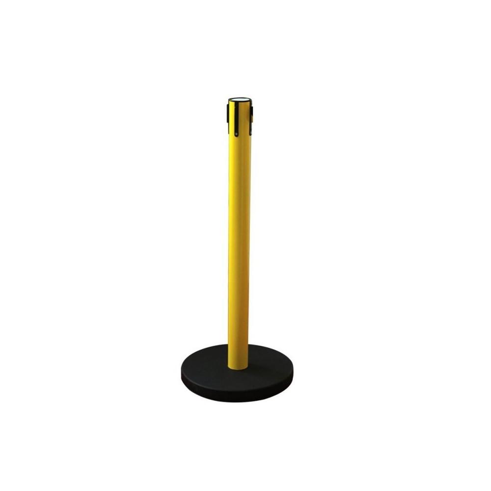 Normál sárga kordonoszlop fekete talppal
