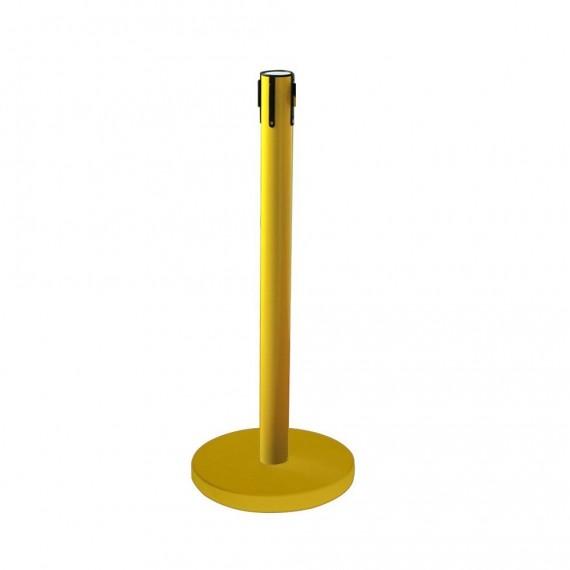 Normál sárga kordonoszlop sarga talppal