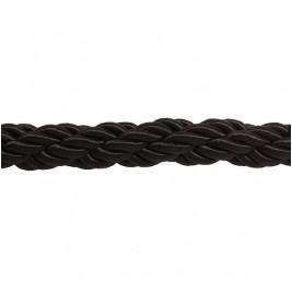 Fekete színű díszkötél 30 mm átmérő, karabineres kötélvég nélkül