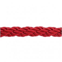 Piros színű díszkötél 30 mm átmérő, karabineres kötélvég nélkül