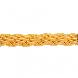 Arany színű díszkötél 30 mm átmérő, karabineres kötélvég nélkül