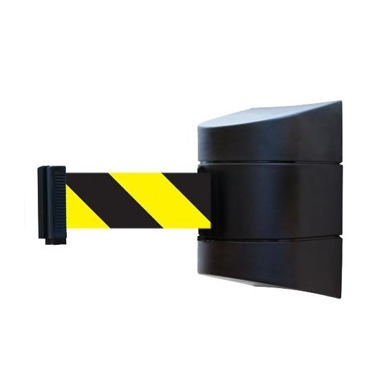 Fali kordon ház szett fekete műanyag 4,8 m sárga-fekete szalagkazettával