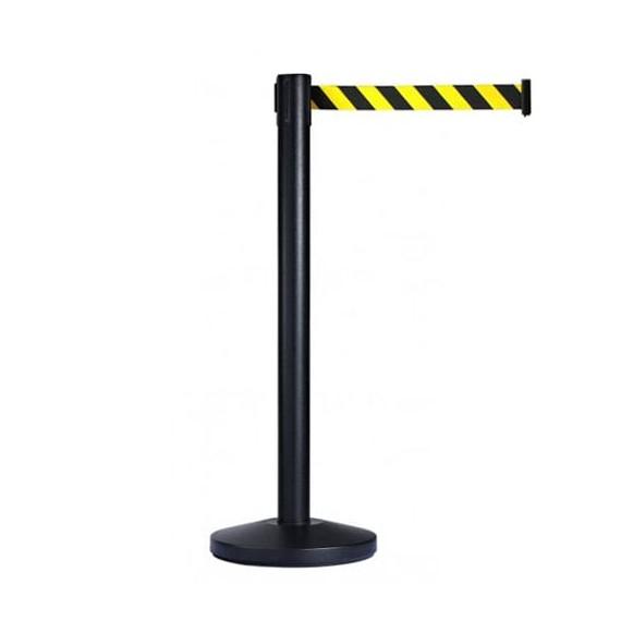 Normál méretű (szalaghossz: 2,0 m) fekete oszlop + 2,0 m sárga-fekete csíkos szalagkazetta.