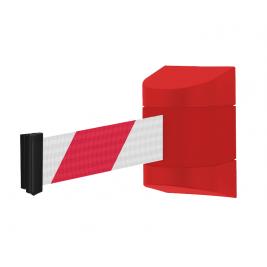Fali kordon ház szett piros műanyag (2 m piros-fehér színű szalagkazettával)