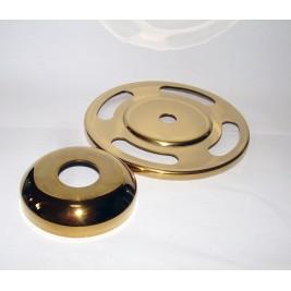 Alsó csatlakozó gyűrű köteles kordonoszlophoz arany színben