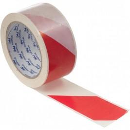 50 m piros-fehér csíkos műanyag szalag