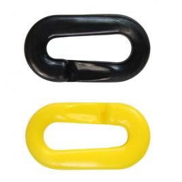 Műanyag összekötőszem lánchoz zárható sárga-fekete színben