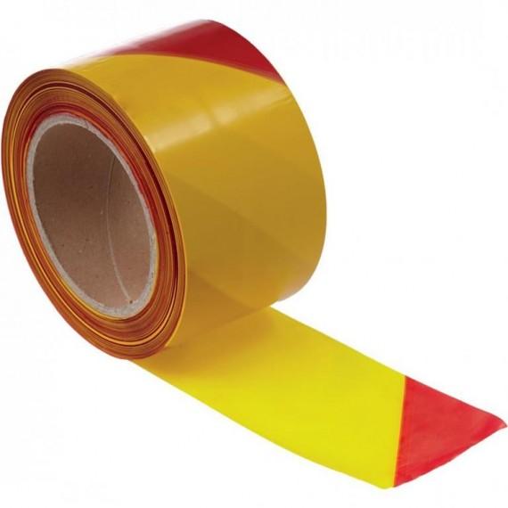 200 m sárga-piros csíkos műanyag szalag