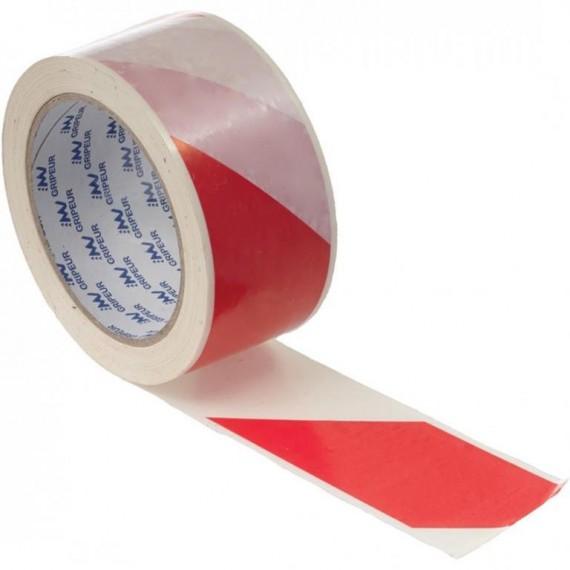 66 m öntapadós piros-fehér jelzőszalag