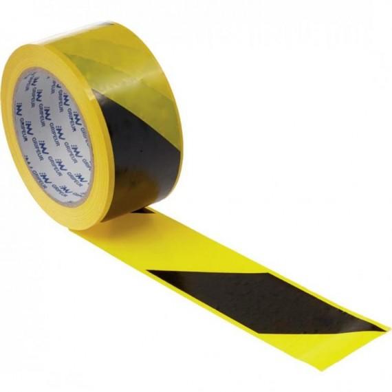 100 m sárga-fekete csíkos műanyag szalag