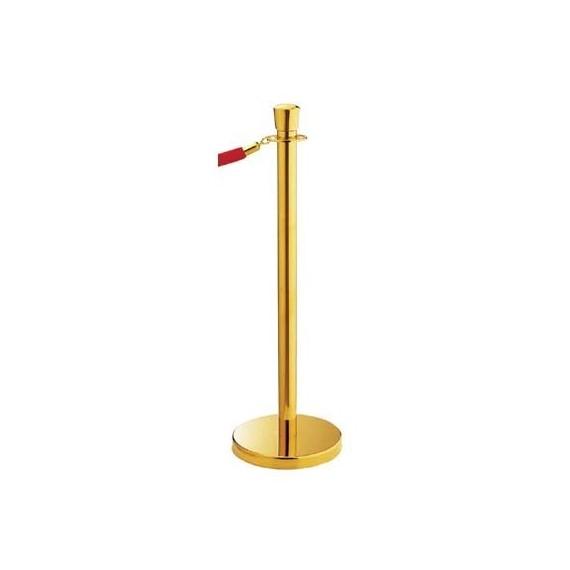 Köteles oszlop titanium gold színben - korona oszlopdísszel, lapos talppal